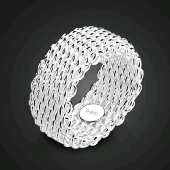 1195a1b50ba38 Sterling Silver Woven Mesh Ring